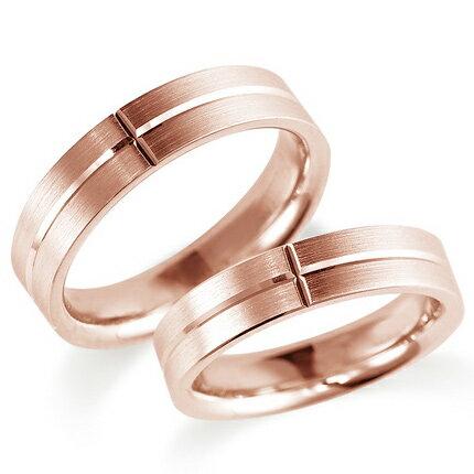 ペアリング(2本セット) 結婚指輪 マリッジリング 鍛造製法 K18ピンクゴールド 《Solid M0900WR》 【刻印無料 ケース付き 送料無料】 【RCP】 【532P17Sep16】 高品質・ハイクォリティー