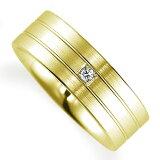 ペアリング(女性用) 結婚指輪 マリッジリング 鍛造製法 K18イエローゴールド ダイヤモンドリング 《Solid M0592L》 【刻印無料 ケース付き 】【レビューを書いてクオ