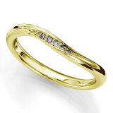 ペアリング(女性用) 結婚指輪 マリッジリング 結婚記念 K18イエローゴールド ダイヤモンドリング 《sympho M0911L》 【刻印無料 ケース付き 】【レビューを書いてク