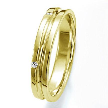 ペアリング(女性用) 結婚指輪 マリッジリング 結婚記念 K18イエローゴールド ダイヤモンドリング 《Wish M0251L》 【刻印無料 ケース付き 送料無料】 【RCP】 【532P17Sep16】 高品質・ハイクォリティー