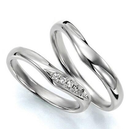 ペアリング(2本セット) 結婚指輪 マリッジリング 結婚記念 K18ホワイトゴールド 《Wish M0036》 ダイヤモンドリング ギフト 【刻印無料 ケース付き 送料無料】 【RCP】 【532P17Sep16】 高品質・ハイクォリティー