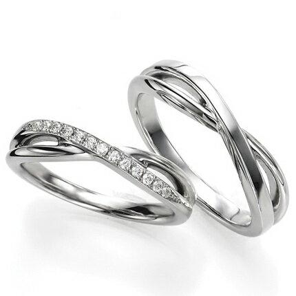 ペアリング(2本セット) 結婚指輪 マリッジリング 結婚記念 プラチナ900 《Wish M0090》 ダイヤモンドリング ギフト 【刻印無料 ケース付き 送料無料】 【RCP】 【532P17Sep16】 高品質・ハイクォリティーあまい(あまい)