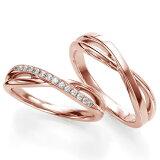 ペアリング(2本セット) 結婚指輪 マリッジリング 結婚記念 K18ピンクゴールド 《Wish M0090》 ダイヤモンドリング ギフト 【刻印無料 ケース付き 】【レビューを書い