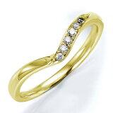 ペアリング(女性用) 結婚指輪 マリッジリング 結婚記念 K18イエローゴールド ダイヤモンドリング 《Wish M0240L》 【刻印無料 ケース付き 】【レビューを書いてクオカ