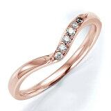 ペアリング(女性用) 結婚指輪 マリッジリング 結婚記念 K18ピンクゴールド ダイヤモンドリング 《Wish M0240L》 【刻印無料 ケース付き 】【レビューを書いてクオカー