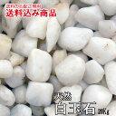 「ヤマト白玉石」最高級庭園用天然玉石20kg