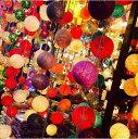 COTTON BALL LAMP コットンボールランプ 全16色 スイッチ付き イルミネーション ハロウィン インテリアライト クリスマスライト 電飾 ガーランド カラフルボール 室内照明 間接照明 アジアン照明 タイ雑貨 アジアン雑貨