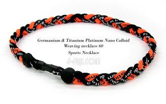 Giants colors and baseball, also use ゲルマチタンプラチナナノコロイドウィーヴィングネックレス 60-braid sport necklace and discount KY sports players