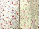 YUWA 綿麻スラブ ハーフリネン 洗いプリント 林檎 リンゴ りんご