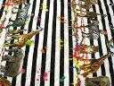 キルト candy party ( キャンディパーティ ) happy animals しまうまボーダー アフリカサバンナ アニマルプリント パネル販売