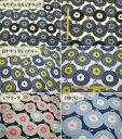 5646 ベーグル 和風 北欧風花柄 北欧柄 生地 コットンリネンキャンバス 綿麻 フラワーモチーフ 和調