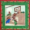 ssi-1787 クリスマスの準備のクマ パネルとストッキン...