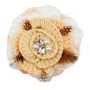 コサージュ 入学式 コサージュ フォーマル 2way ヘッドドレス ベージュ 花 コサージュ 結婚式 髪飾り fh12006bge