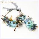 花かんむり 花冠 花かんむり リストレット 2点セット ヘッドドレス 髪飾り コサージュ