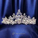 ティアラ 結婚式 キュービックジルコニア 王冠 ウエディング ティアラ ブライダル tiara 髪飾り ft9058plsr