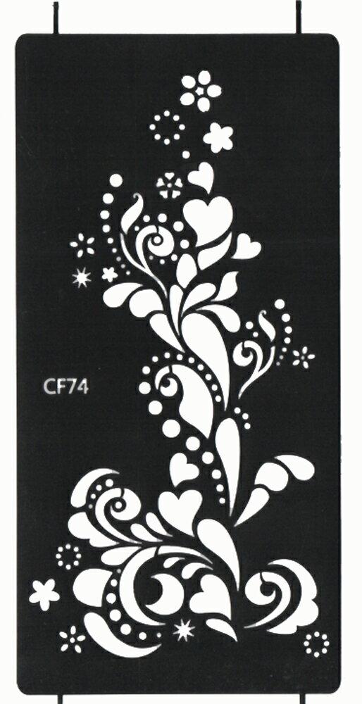 (ファンタジー) TheFantasy シール ヘナタトゥー グリッタータトゥー 用の ステンシルシート 花 cf074