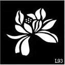 (ファンタジー) TheFantasy ヘナタトゥー グリッタータトゥー 用の ステンシルシート 花 l093【5枚セット】