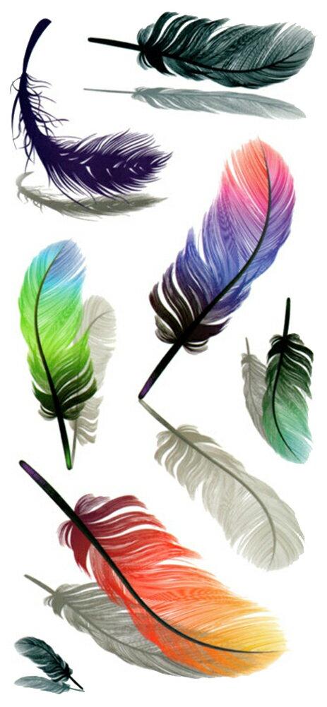 (ファンタジー) TheFantasy タトゥーシール タトゥーシール 3D 立体感 羽毛 3d03 【レギュラー】