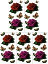 [THE FANTASY (ファンタジー)] タトゥーシール 薔薇 蝶 男女兼用 3歳以上 [5枚入り]3D24