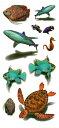 (ファンタジー) TheFantasy タトゥーシール タトゥーシール 3D 立体感 鮫 海の動物たち 3d31 【レギュラー】