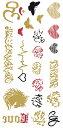 The Fantasy [3枚入り] フラッシュタトゥー フラッシュタトゥーシール アラビア語 ハート 蝶 ghm002 【レギュラー】