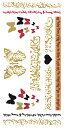 (ファンタジー) TheFantasy フラッシュタトゥー フラッシュタトゥーシール アラビア語 蝶 ghm011 【レギュラー・3枚セット】