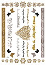 The Fantasy [3枚入り] フラッシュタトゥー フラッシュタトゥーシール ハート アラビア語 gt056 【中型・A5】