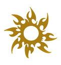 The Fantasy [5枚入り] フラッシュタトゥー フラッシュタトゥーシール 太陽 トライバル gtm004g 金色【ワンポイント】