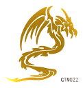 The Fantasy [5枚入り] フラッシュタトゥー フラッシュタトゥーシール 龍 ドラゴン gtm022g 金色【ワンポイント】
