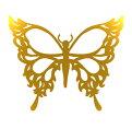 The Fantasy [5枚入り] フラッシュタトゥー フラッシュタトゥーシール 蝶 gtm024g 金色【ワンポイント】