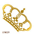 The Fantasy [5枚入り] フラッシュタトゥー フラッシュタトゥーシール 王冠 gtm029g 金色【ワンポイント】