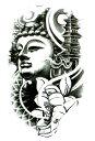 ショッピング仏像 (ファンタジー) TheFantasy タトゥーシール タトゥーシール 仏像 hb093 【中型・A5】