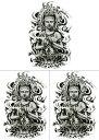 ショッピング仏像 [THE FANTASY (ファンタジー)] タトゥーシール 仏 仏像 hb097 [A5サイズ・3枚入り]
