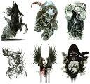 [THE FANTASY (ファンタジー)] タトゥーシール 死神 トライバル[A5サイズ・6種6枚] hb6024
