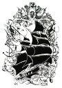 (ファンタジー) TheFantasy タトゥーシール タトゥーシール 海賊船 th050【中型・A5】