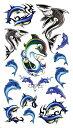 (ファンタジー) TheFantasy タトゥーシール タトゥーシール 動物 イルカ 鮫 hm056 【レギュラー】