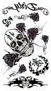 (ファンタジー) TheFantasy タトゥーシール タトゥーシール 髑髏 ドクロ 薔薇 バラ 文字 hm305 【レギュラー】