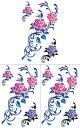 ショッピングホース [KING HORSE (キングホース)] タトゥーシール 薔薇 ローズ hm510 [通常サイズ・3枚入り]