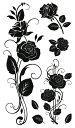 (ファンタジー) TheFantasy タトゥーシール タトゥーシール 黒薔薇 hm582 【レギュ