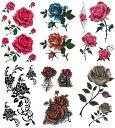 ショッピング薔薇 [KING HORSE (キングホース)] タトゥーシール 薔薇 [通常サイズ・6種6枚] hm6017