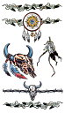 (ファンタジー) TheFantasy タトゥーシール タトゥーシール インカ トライバル インディアン hm645 【レギュラー】