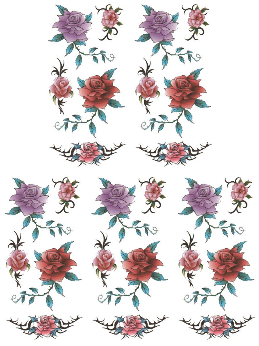 (ファンタジー) TheFantasy タトゥーシール タトゥーシール 薔薇 ht08061 【小型】