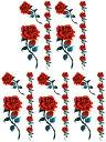 (ファンタジー) TheFantasy タトゥーシール タトゥーシール 薔薇 ht1011 【小型・5枚セット】