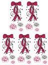 (ファンタジー) TheFantasy タトゥーシール タトゥーシール リボン 花 ht1146 【小型・5枚セット】
