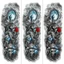 ショッピングタトゥー (ファンタジー) TheFantasy タトゥーシール タトゥーシール 肩から手首 髑髏 薔薇 tqb008【特長・3枚セット】