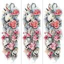 ショッピングラッシュ (ファンタジー) TheFantasy タトゥーシール タトゥーシール 肩から手首 クロス 薔薇 髑髏 tqb015【特長・3枚セット】
