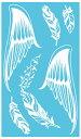 (ファンタジー) TheFantasy タトゥーシール タトゥーシール 白ヘナ 羽毛 翼 whm022 【レギュラー】