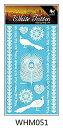 KING HORSE タトゥーシール [3枚セット] 白ヘナ 羽 孔雀 whm051 【レギュラー】