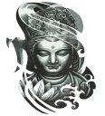 ショッピング仏像 (ファンタジー) TheFantasy タトゥーシール タトゥーシール 仏像 観音 wqa31 【大型・A4】