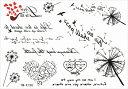 (ファンタジー) TheFantasy タトゥーシール タトゥーシール 英語 たんぽぽ ymk190 【レギュラー】
